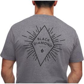 Black Diamond Rays T-shirt met Borstzak Heren, charcoal heather